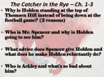 the catcher in the rye ch 1 3