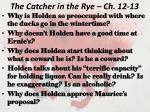 the catcher in the rye ch 12 13