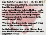 the catcher in the rye ch 15 16
