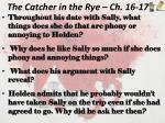 the catcher in the rye ch 16 17