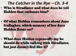 the catcher in the rye ch 3 4