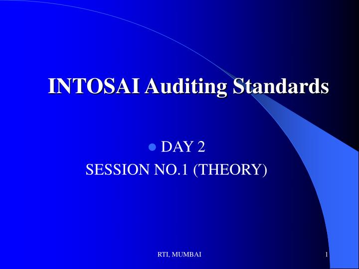 intosai auditing standards n.