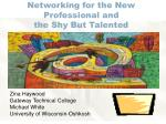 networking for the new professional and the shy but talented