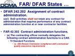 far dfar states