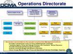 operations directorate