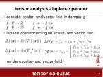 tensor calculus15