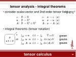 tensor calculus18