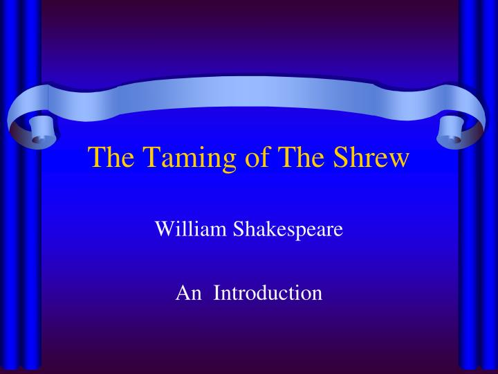 the taming of the shrew n.