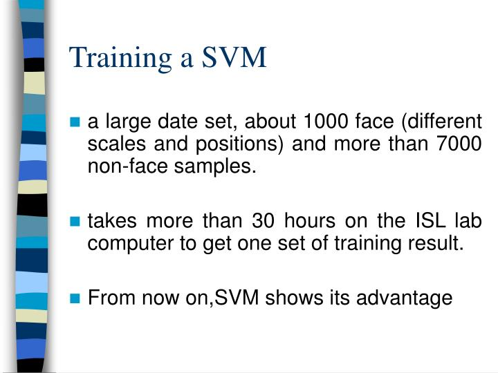 Training a SVM