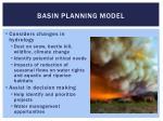 basin planning model