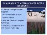 challenges to meeting water needs section 5