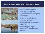 environmental and recreational