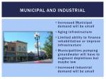 municipal and industrial