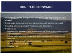our path forward