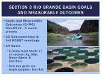 section 3 rio grande basin goals and measurable outcomes