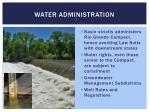 water administration