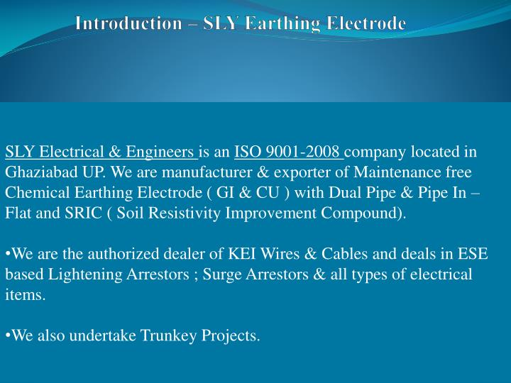PPT - CHEMICAL EARTHING Empowering Your Electrical SAFETY with a ...