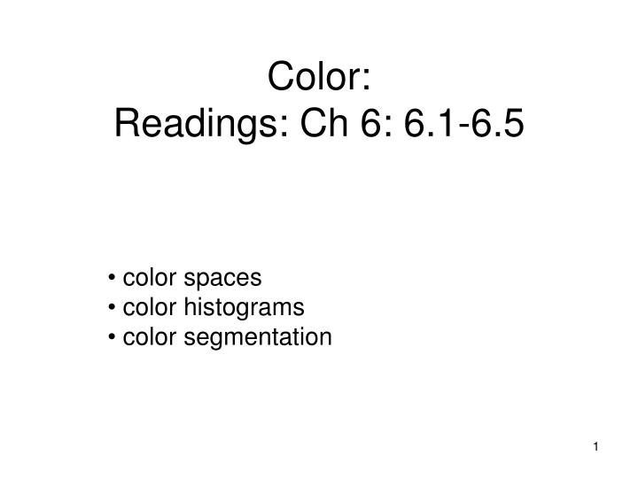 color readings ch 6 6 1 6 5 n.