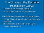 the shape of the portfolio possibilities curve