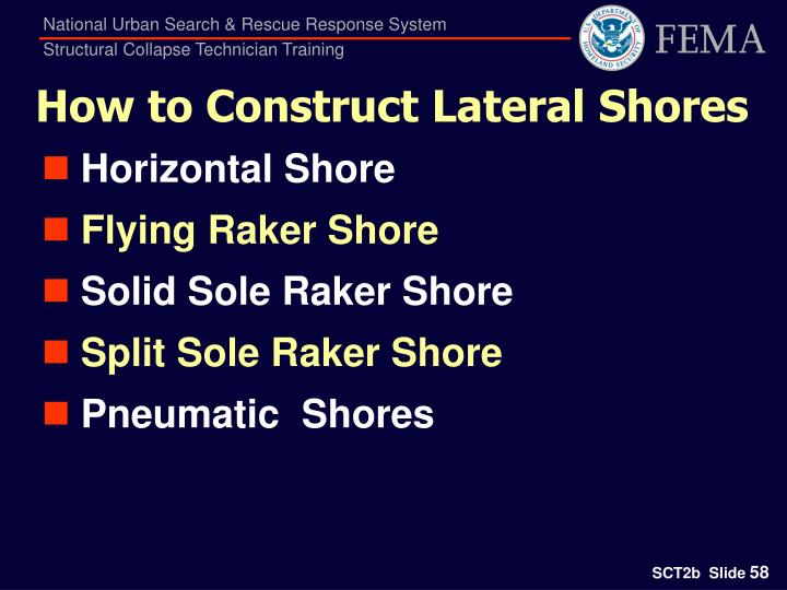 How to Construct Lateral Shores