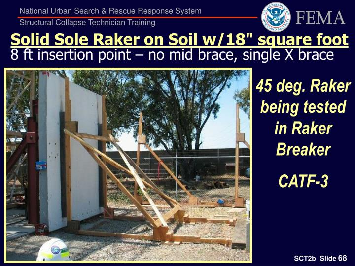 "Solid Sole Raker on Soil w/18"" square foot"