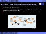 osgi open services gateway initiative