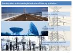 our objectives as the leading infrastructure financing institution