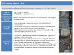 ppp sectoral review rail