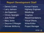 report development staff