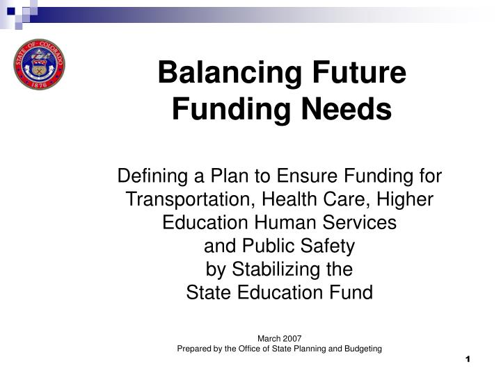 balancing future funding needs n.