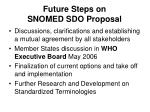 future steps on snomed sdo proposal