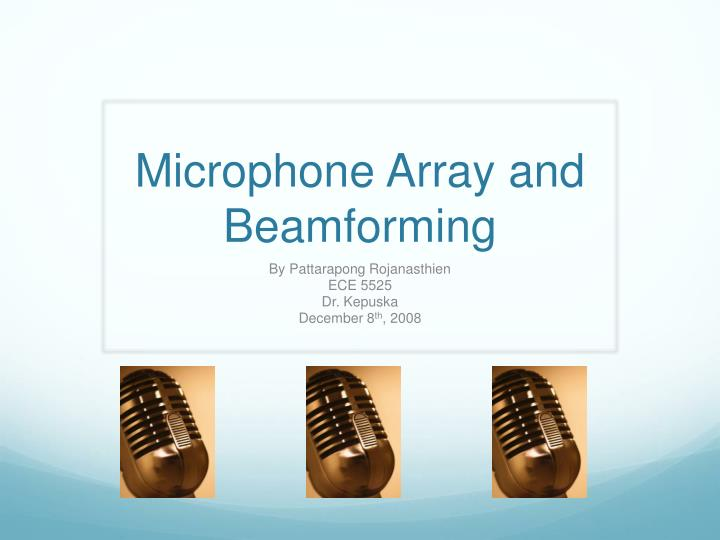 microphone array and beamforming n.