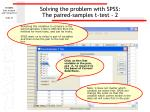 solving the problem with spss the paired samples t test 2