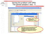 solving the problem with spss the paired samples t test 5