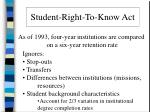 student right to know act