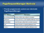pagerequestmanager methods