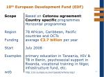 10 th european development fund edf