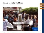 access to water in ghana