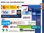 better aid aid effectiveness