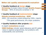 better aid quality assessment evaluation