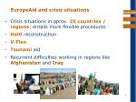 europeaid and crisis situations