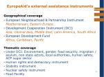europeaid s external assistance instruments