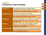 impact evaluations main findings
