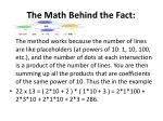 the math behind the fact