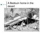 a bedouin home in the desert