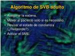 algoritmo de svb adulto