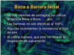 boca a barrera facial