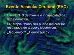 evento vascular cerebral evc