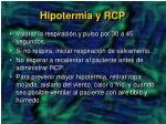 hipotermia y rcp