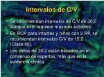 intervalos de c v